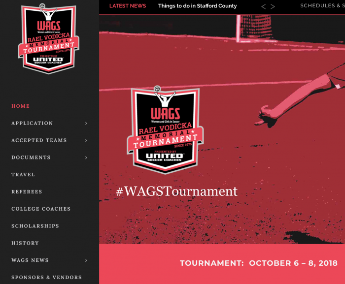 Wags Press Release New Website Elite Tournaments